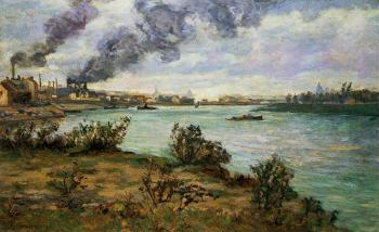 Armand Guillaumin : The Confluence of the Seine and Marne at Ivry